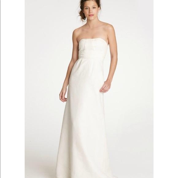 80b4b1331ae9 J. Crew Dresses   J Crew Erica Wedding Gown Strapless White Nwt ...